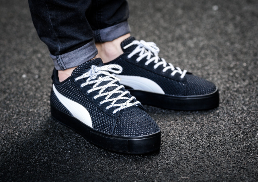 Daily Paper x Puma Court Platform Knit 'White & Black'