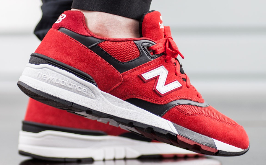 Basket New Balance ML 597 Red (1)