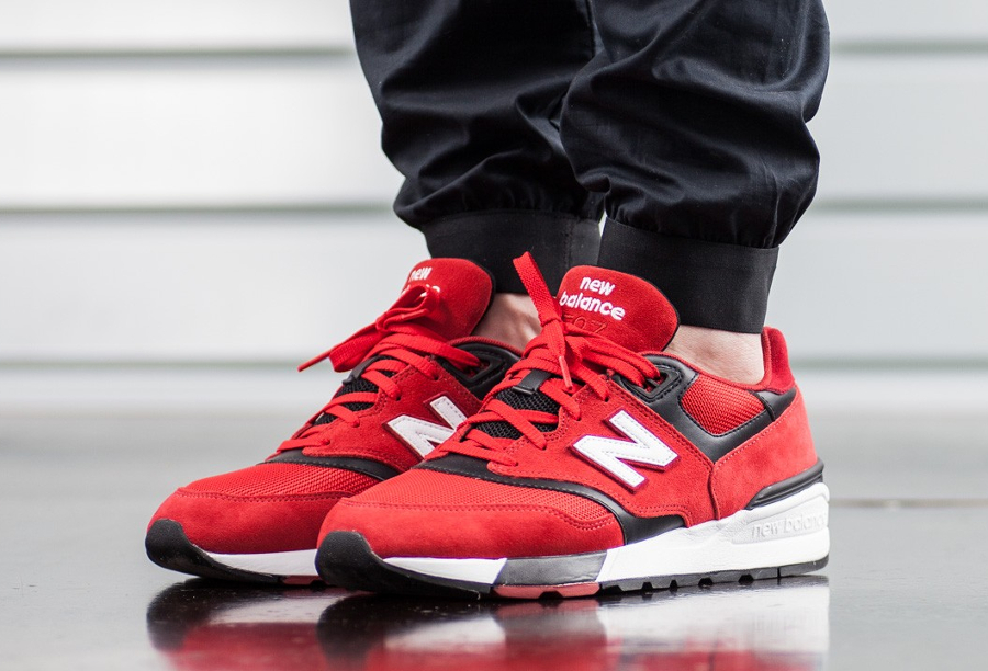 Basket New Balance ML 597 Red (2)
