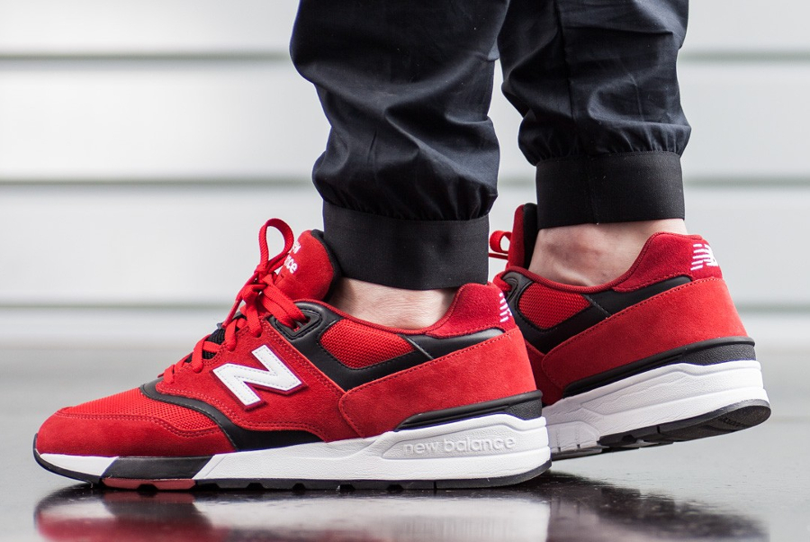 Basket New Balance ML 597 Red (3)
