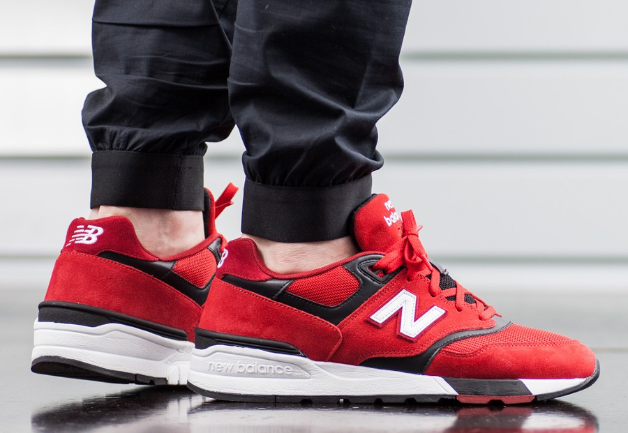 Basket New Balance ML 597 Red (5)