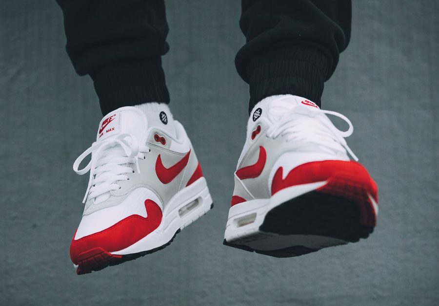 Nike Air Max 1 OG 'University Red' 2017 (édition 30ème anniversaire)