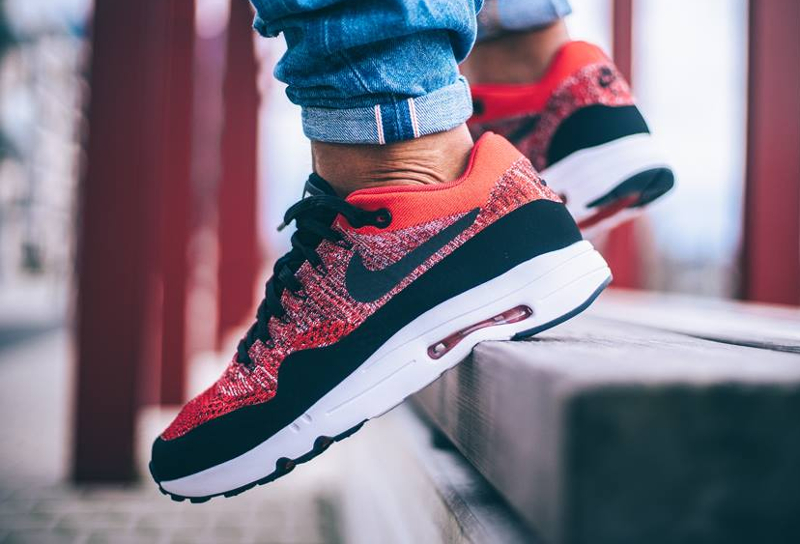wholesale dealer 8f855 7745a Basket Nike Air Max 1 Ultra 2.0 Flyknit University Red rouge (2)
