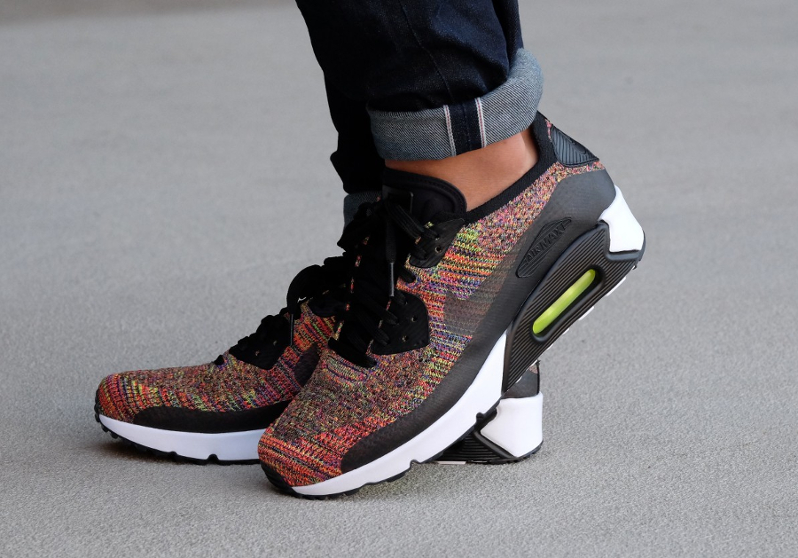 best service 565df 4d316 Basket Nike Air Max 90 Ultra 2.0 Flyknit Multicolor homme (1)