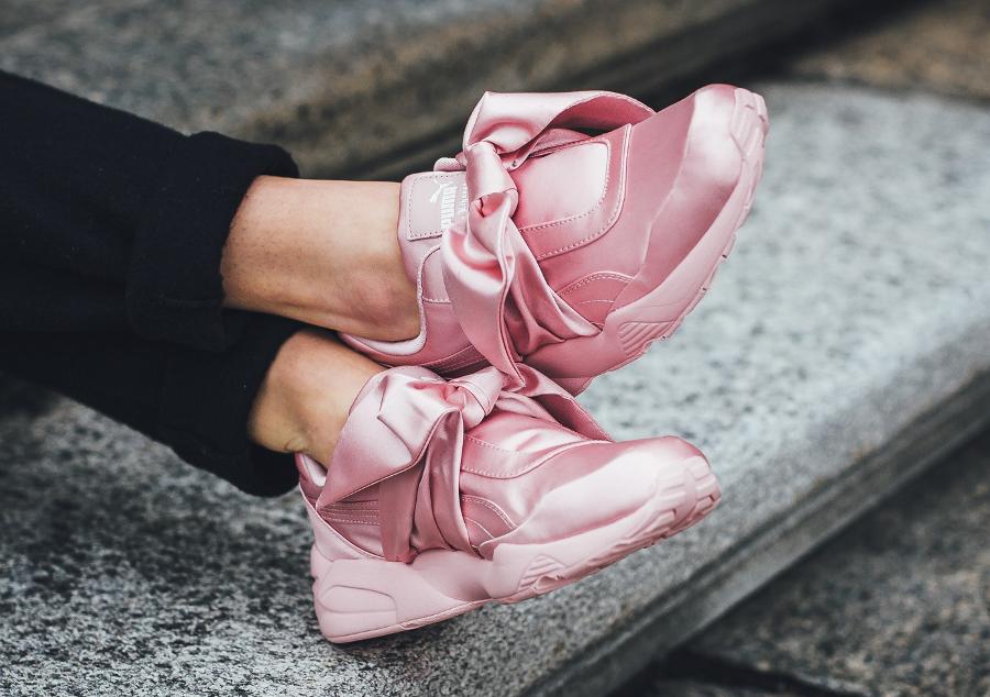 Basket Rihanna x Puma Wmns Box Sneaker Silver Pink (2)