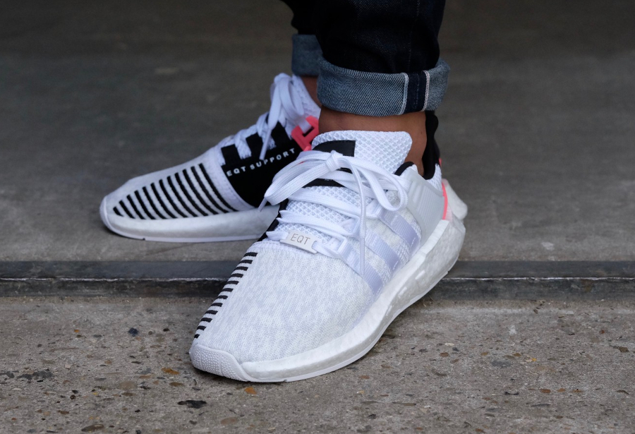 Chaussure Adidas EQT Support 93 17 White Turbo blanche (1)