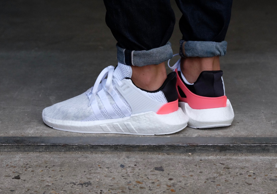 Chaussure Adidas EQT Support 93 17 White Turbo blanche (2)