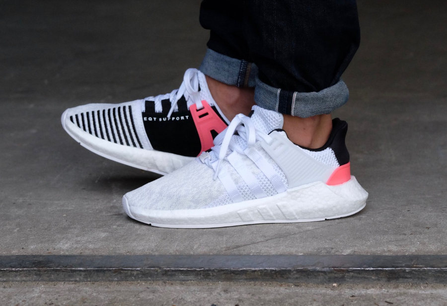 Chaussure Adidas EQT Support 93 17 White Turbo blanche (3)