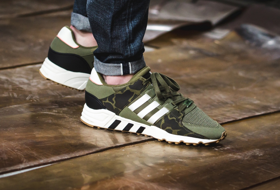 Chaussure Adidas EQT Support 93 RF Camo Olive (style militaire) (1)