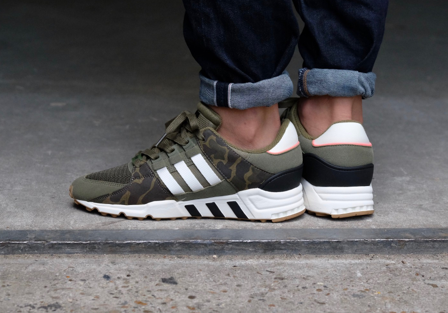 Chaussure Adidas EQT Support 93 RF Camo Olive (style militaire) (3)