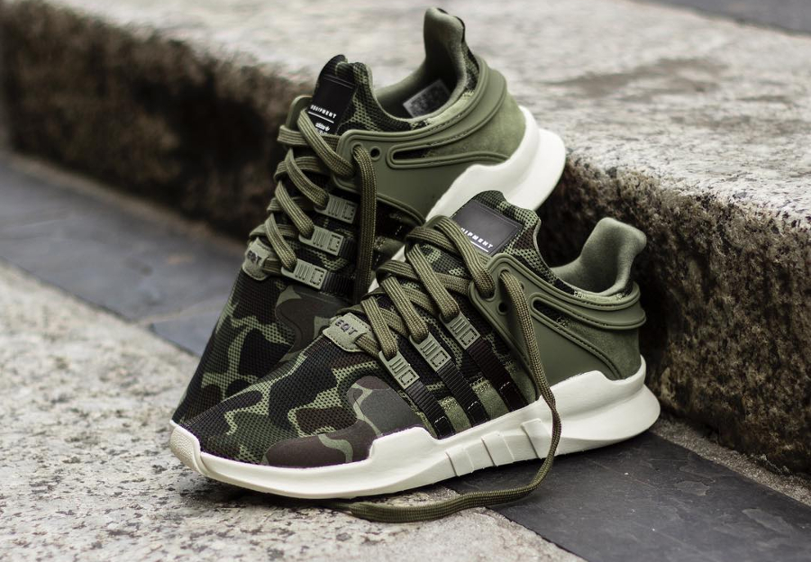 Chaussure Adidas EQT Support ADV Camo Olive Cargo (militaire) (1)