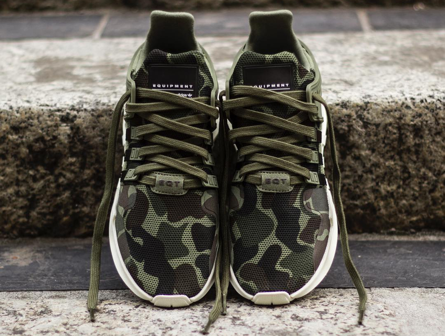 Chaussure Adidas EQT Support ADV Camo Olive Cargo (militaire) (3)
