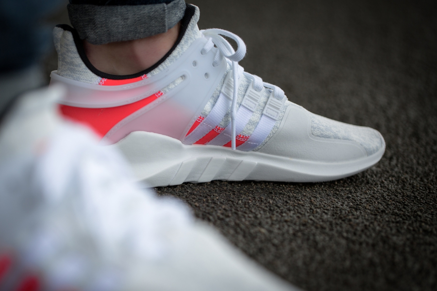 Chaussure Adidas EQT Support ADV Crystal White (blanche) (2)