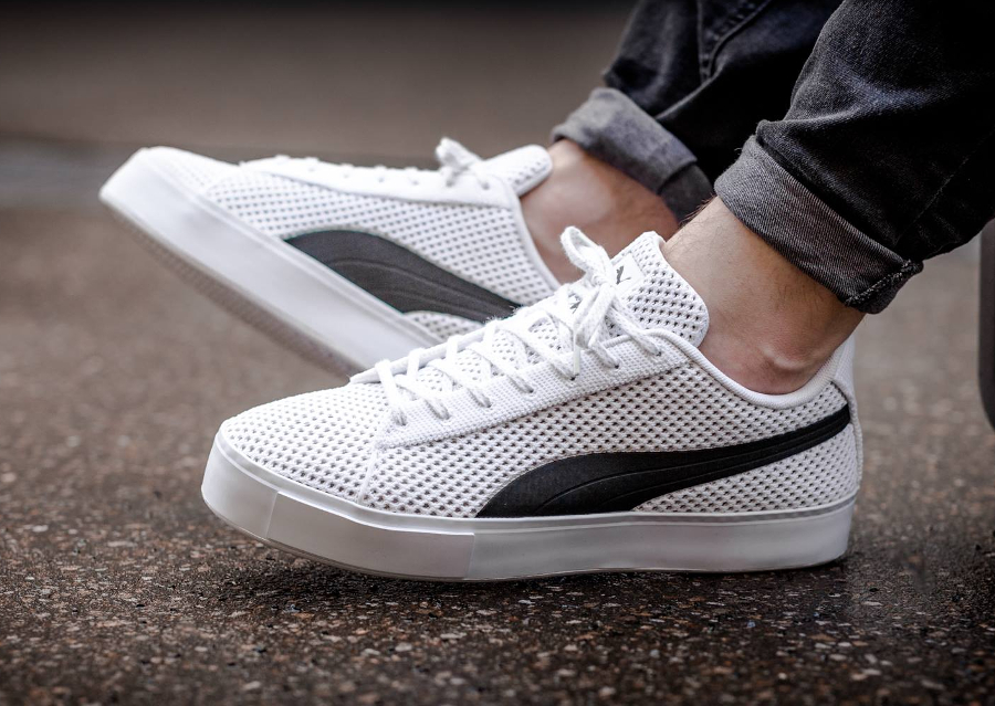 Chaussure Daily Paper x Puma Court Platforme Knit Blanche (1)