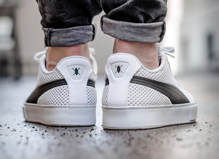 Chaussure Daily Paper x Puma Court Platforme Knit Blanche (2)