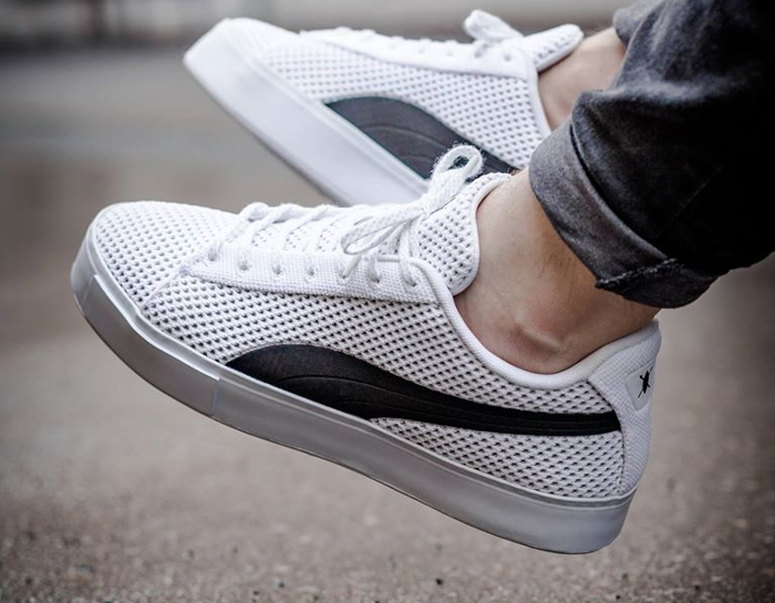 Chaussure Daily Paper x Puma Court Platforme Knit Blanche (3)