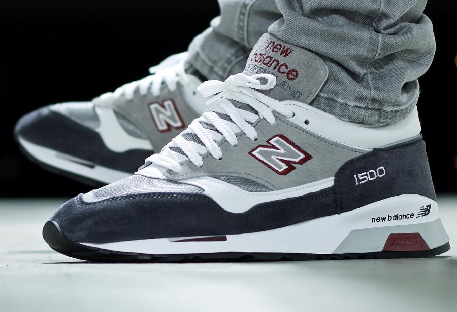 Chaussure New Balance M1500GRW Grey White (Made in England) (2)