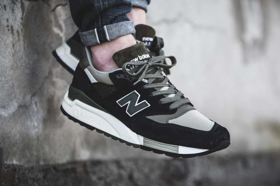 Chaussure New Balance M998CTR Black Green (Made in USA)