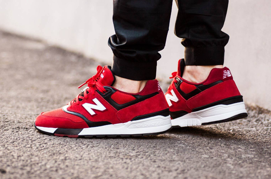 Chaussure New Balance ML597GSB Red (daim rouge)