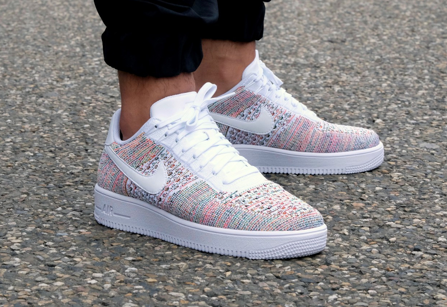 San Francisco ccc15 fea61 Nike Air Force 1 Low Flyknit Multicolor 'Yellow Strike'