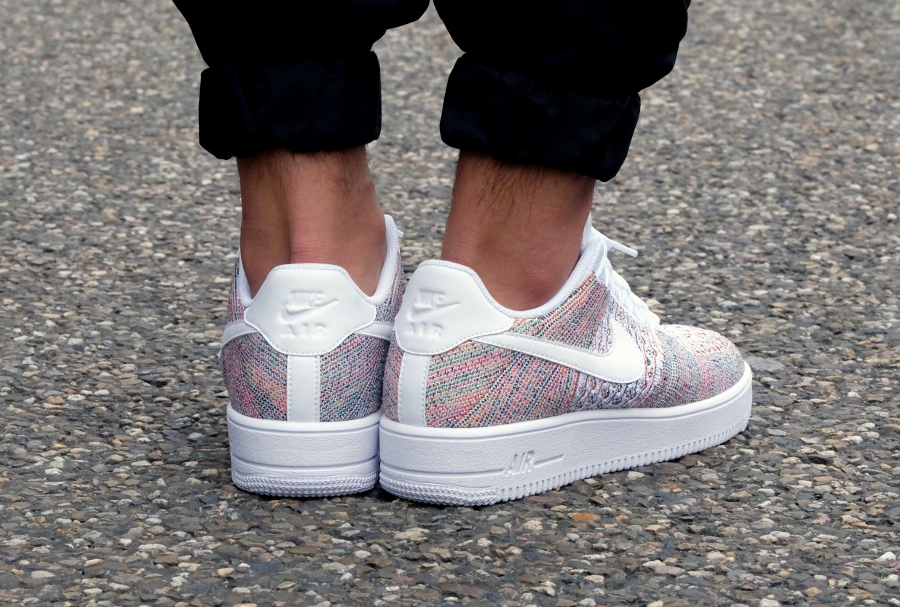 Chaussure Nike Air Force 1 Low Flyknit Multicolor Yellow Strike (2)