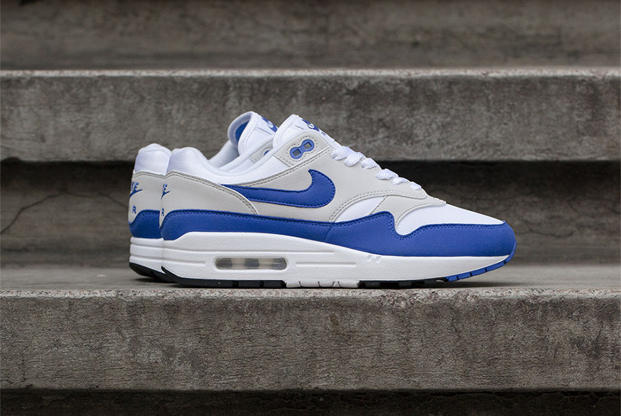 Chaussure Nike Air Max 1 OG Blue Game Royal Anniversary 2017 (1)