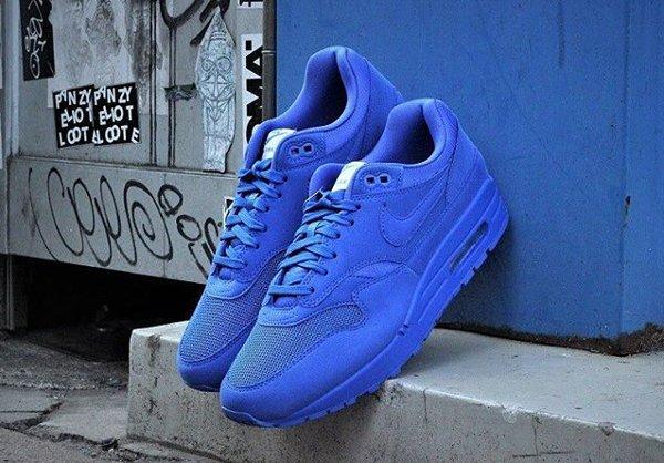 Nike Air Max 1 Premium 'Monochrome' Red & Electric Blue