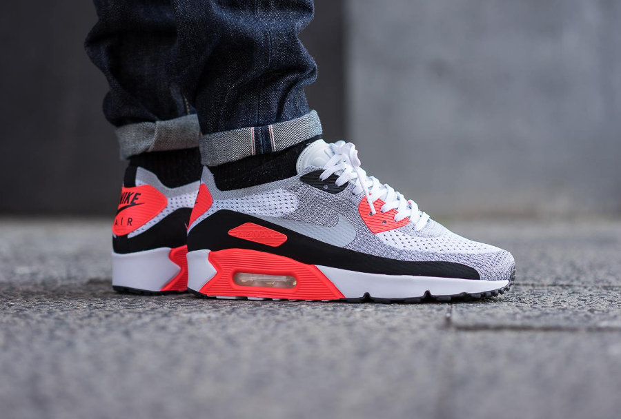 Chaussure Nike Air Max 90 OG Infrared Ultra 2.0 Flyknit 2017 (1)