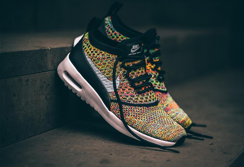 Chaussure Nike Air Max Thea Ultra Flyknit Rainbow Multicolor