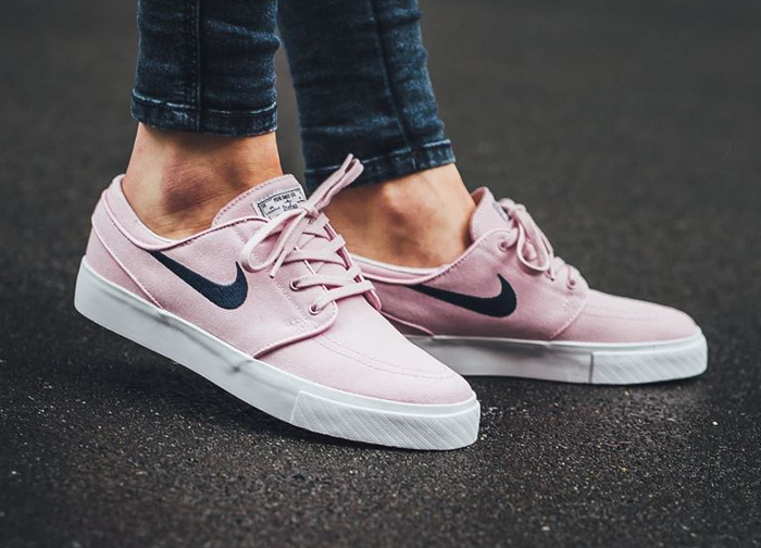 Chaussure Nike SB Zoom Stefan Janoski Canvas Rose Prism Pink (3)