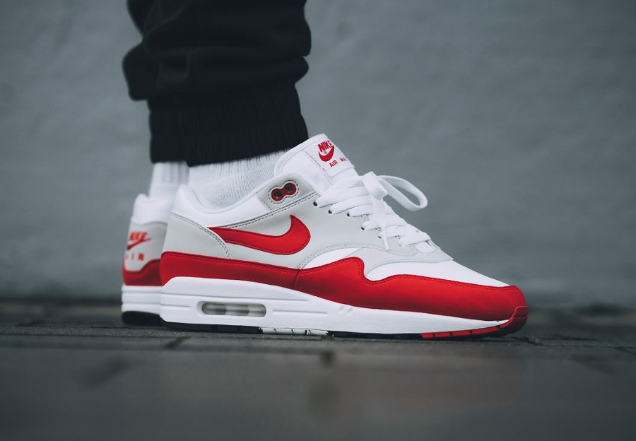 check out cae3f fc420 basket-nike-air-max-1-originale-university-red-