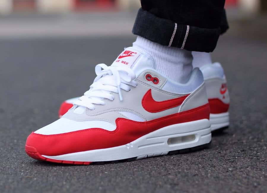 quality design 6da89 11697 Chaussure NikeLab Air Max 1 OG Red 30th Anniversary 2017 -  beeh008