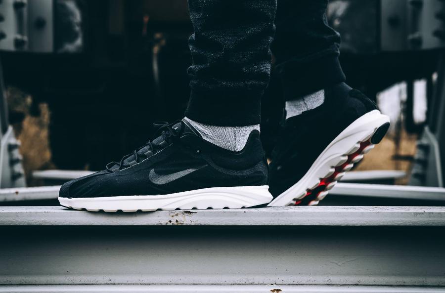 Chaussure NikeLab Mayfly Lite Black White (homme & femme) (2)