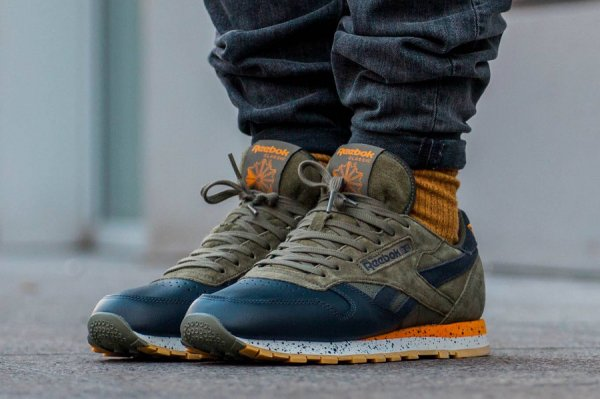 Chaussure Reebok Classic CL Leather Speckle Midsole Hunter Green