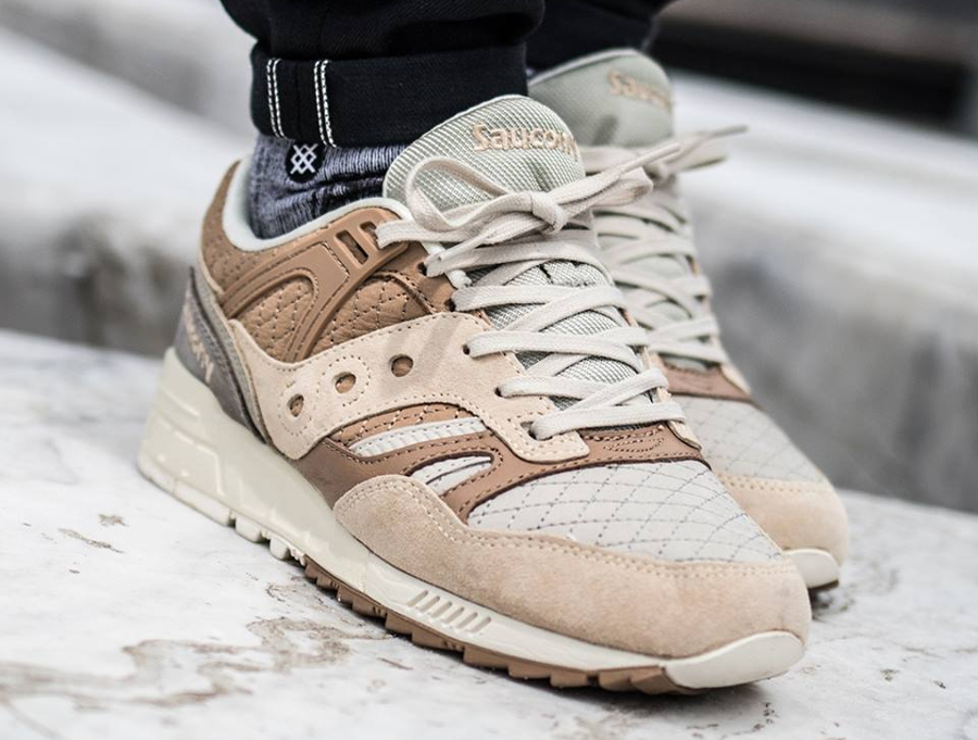 Chaussure Saucony Grid SD Quilted Heritage Tan Grey