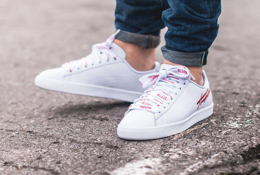 Chaussure Trapstar x Puma Clyde Bold Blanche (1)