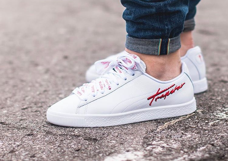 Chaussure Trapstar x Puma Clyde Bold Blanche (2)