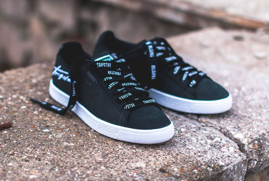 Chaussure Trapstar x Puma Clyde Bold noire