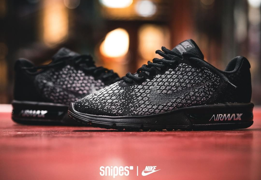 nike air max sequent 2 noir homme