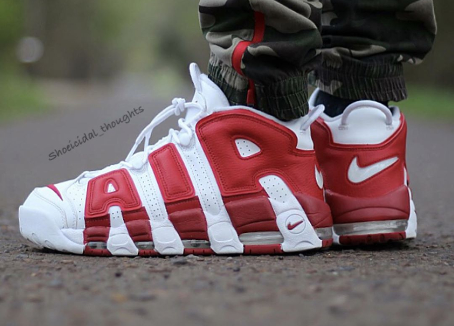 Nike Air More Uptempo White Gym Red - @shoeicidal_thoughts