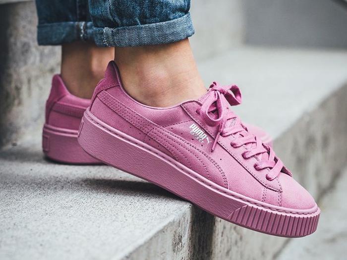 Puma Basket Platform Reset Prism Pink femme (1)