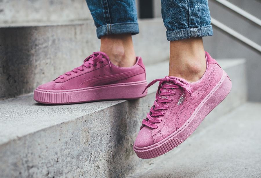 Puma Basket Platform Reset Prism Pink femme (2)