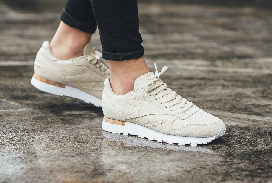 576ac38937931 Reebok Classic CL Leather LST Cork blanche   beige