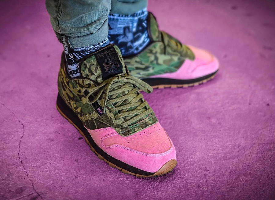 Shoe Gallery x Reebok Classic Leather Flamingo at War - @indy.sneakers