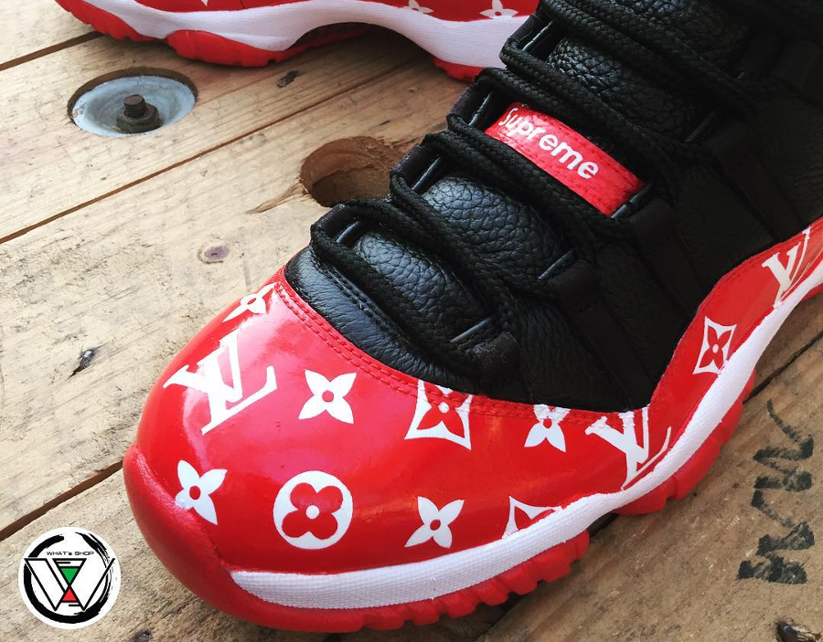 Supreme x Louis Vuitton x Air Jordan 11 Retro Low - @whatsshop
