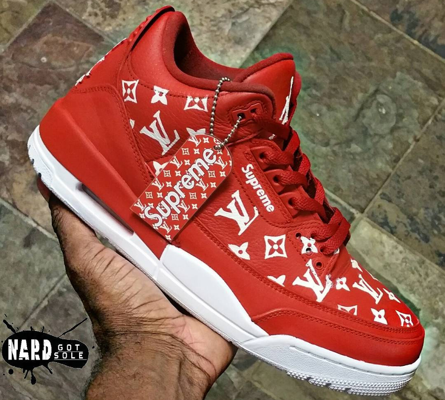 Supreme x Louis Vuitton x Air Jordan 3 - @nardgotsole_htx