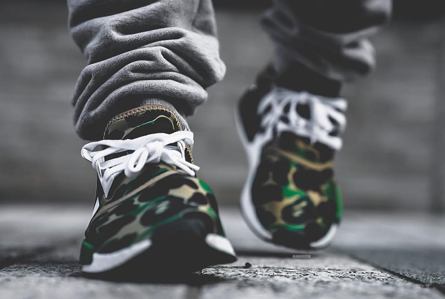 Bape x Adidas NMD R1 Camo Green - @ammaribrm