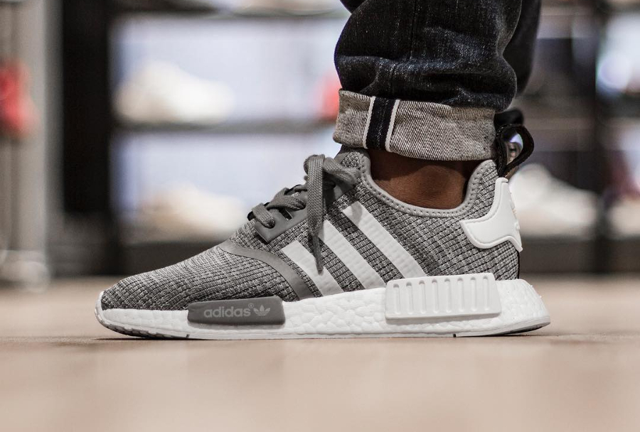 Basket Adidas NMD R1 Heather Solid Grey (2)