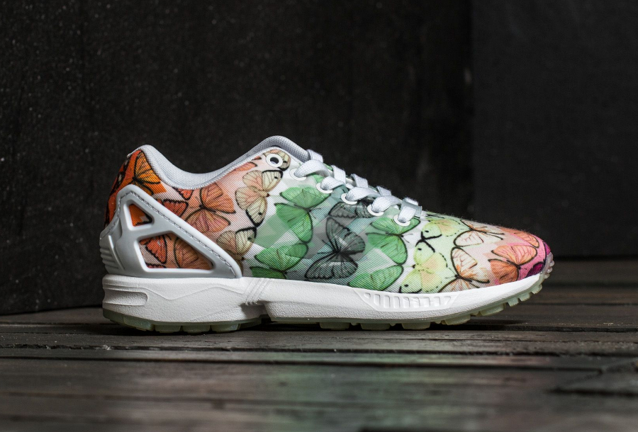 chaussures de sport 1ab5d 04caa The Farm Company x Adidas ZX Flux 'Butterfly Muticolor'