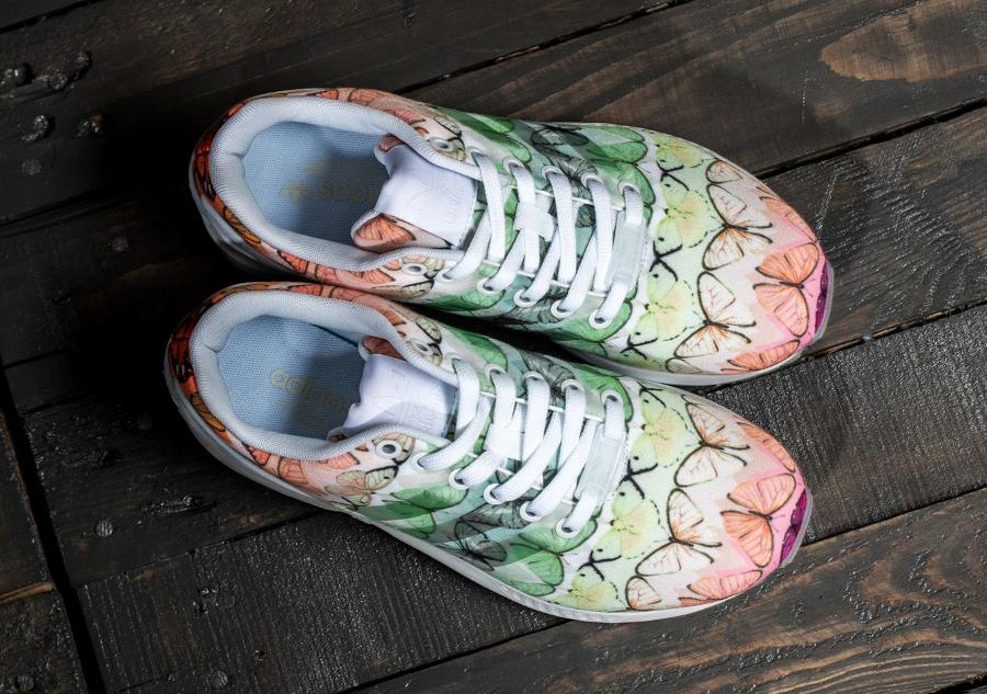 chaussures de sport b86aa b68e8 The Farm Company x Adidas ZX Flux 'Butterfly Muticolor'